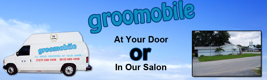 Groomobile Logo - Mobile Pet Grooming Company | Tampa Bay